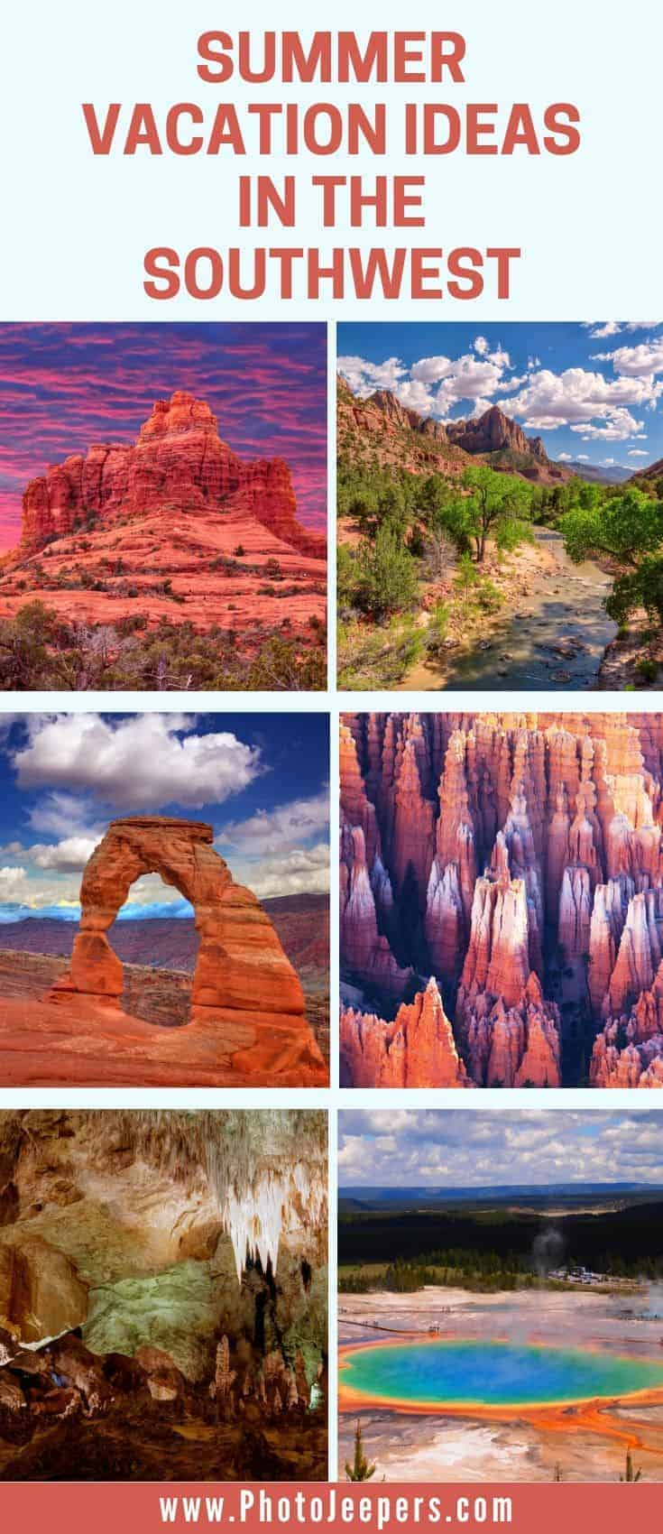 Summer Vacation Ideas in the Southwest