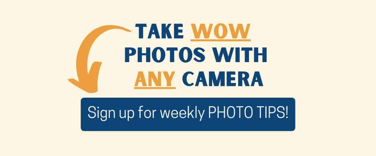 Take wow photos with any camera: sign up to receive weekly photo tips
