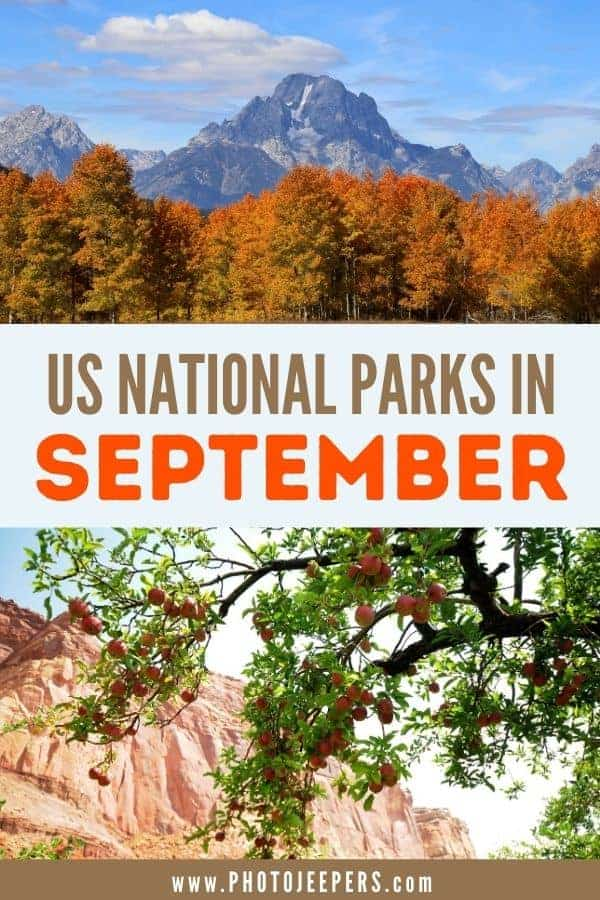 US National Parks in September