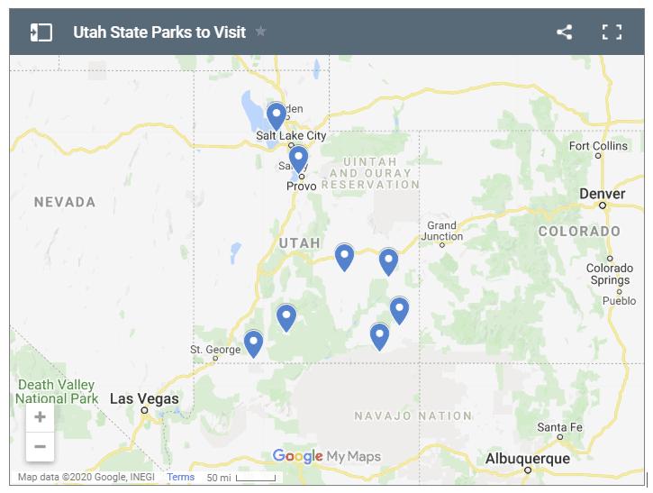 Utah State Parks Map