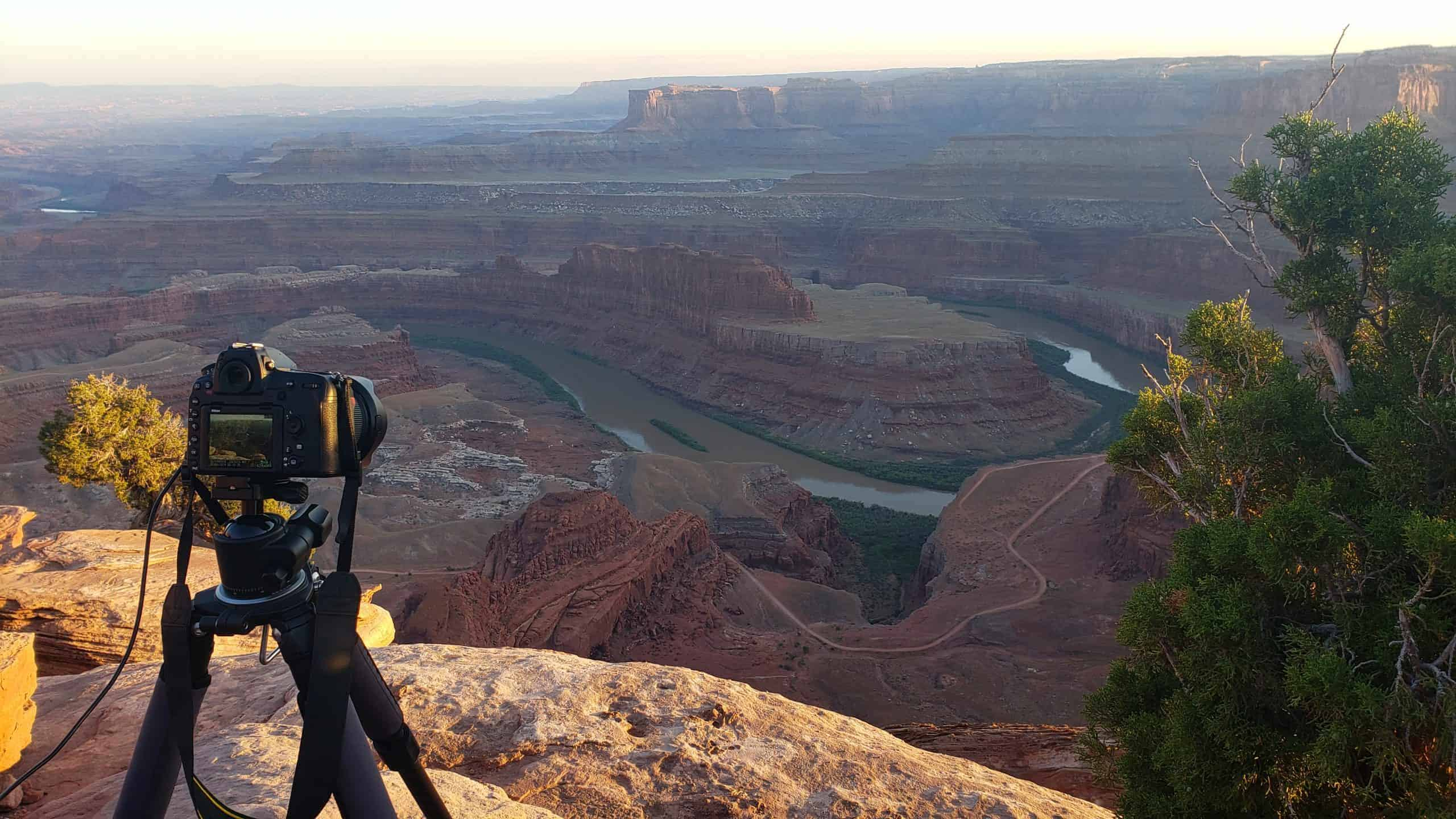 Photographing Dead Horse Point in Utah