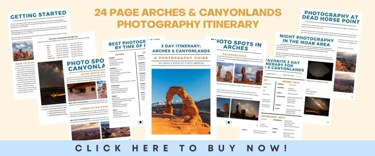Arches Canyonlands Photography Itinerary