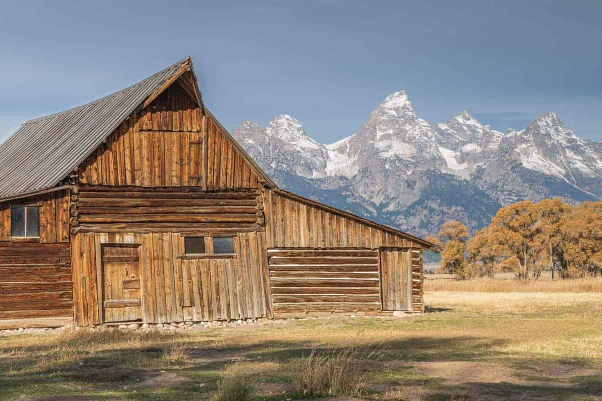 Moulton Barn at Mormon Row at Grand Teton National Park.