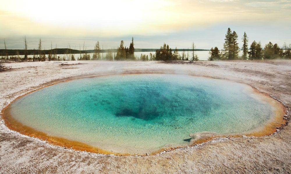 hot pool at Yellowstone National Park