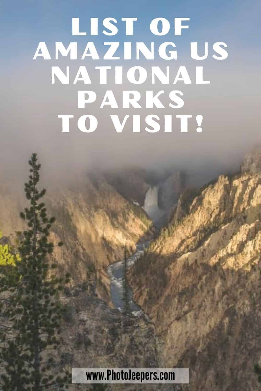 List of Amazing US National Parks to Visit