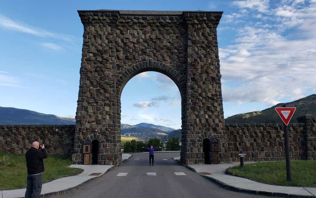 Roosevelt Arch near the North Entrance to Yellowstone