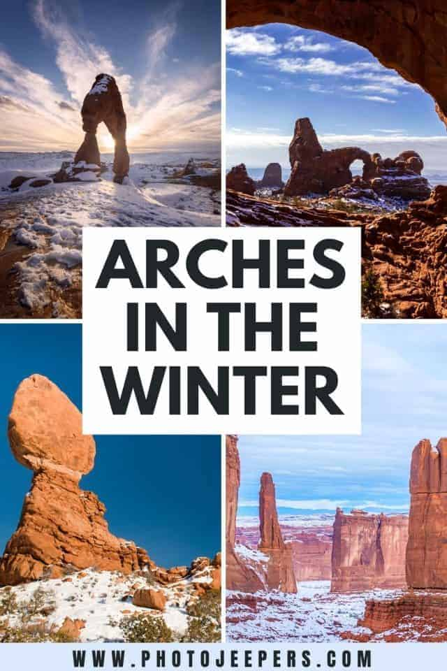 arches in the winter