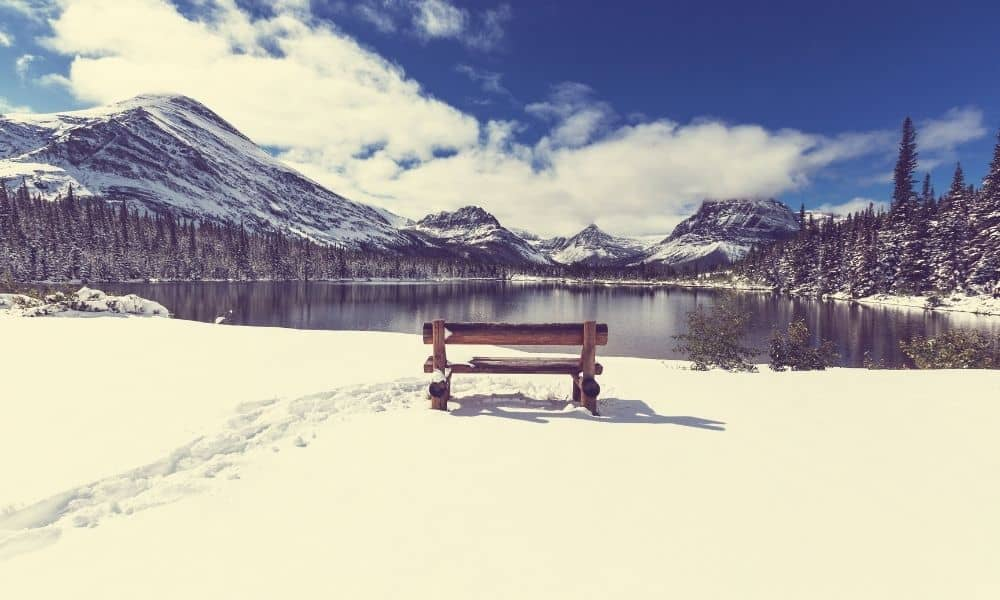 Glacier National Park in the winter