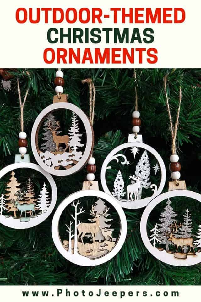 outdoor-themed Christmas ornaments