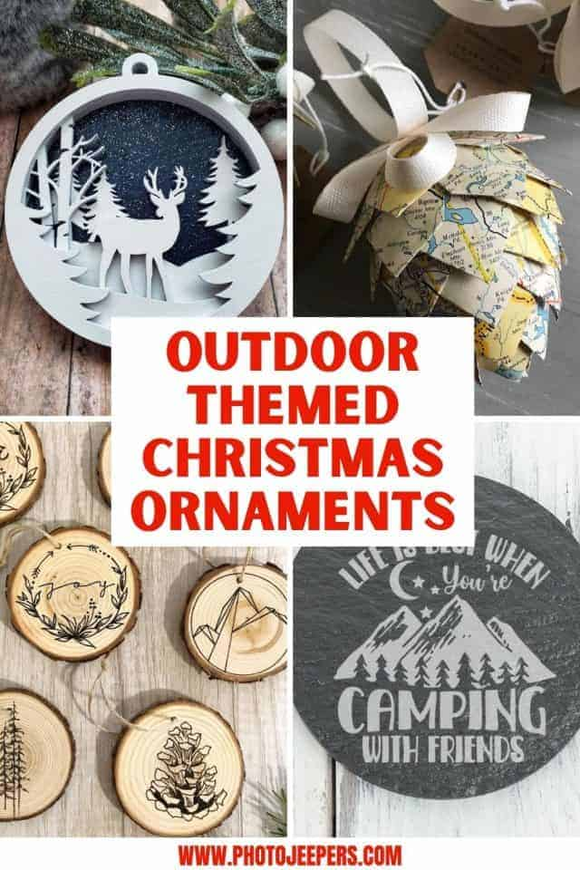outdoor themed Christmas ornaments