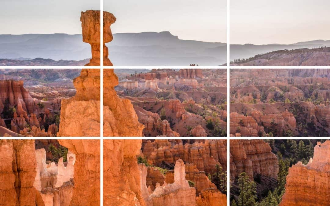 rule of thirds grid thor's hammer Bryce Canyon