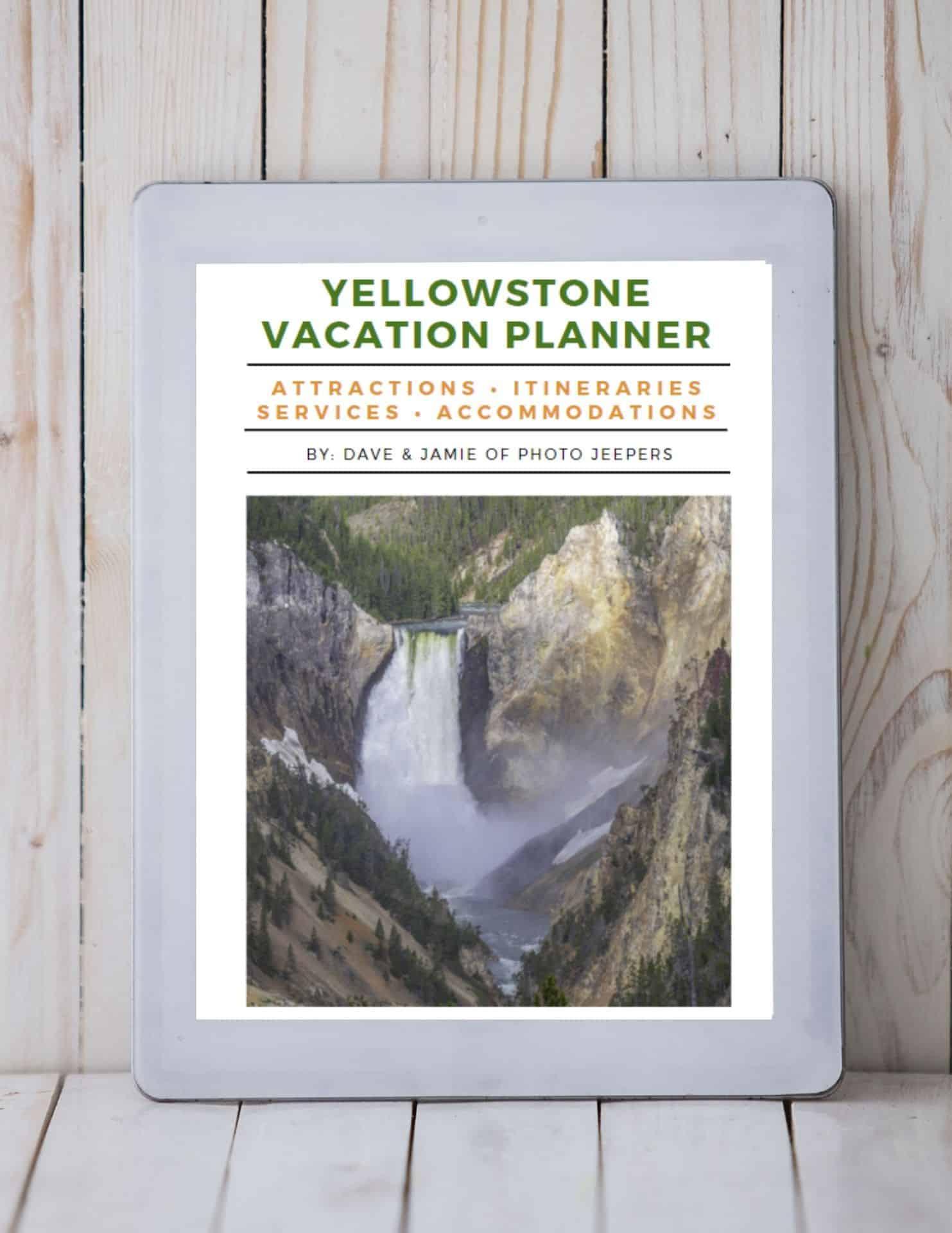 Yellowstone vacation planner