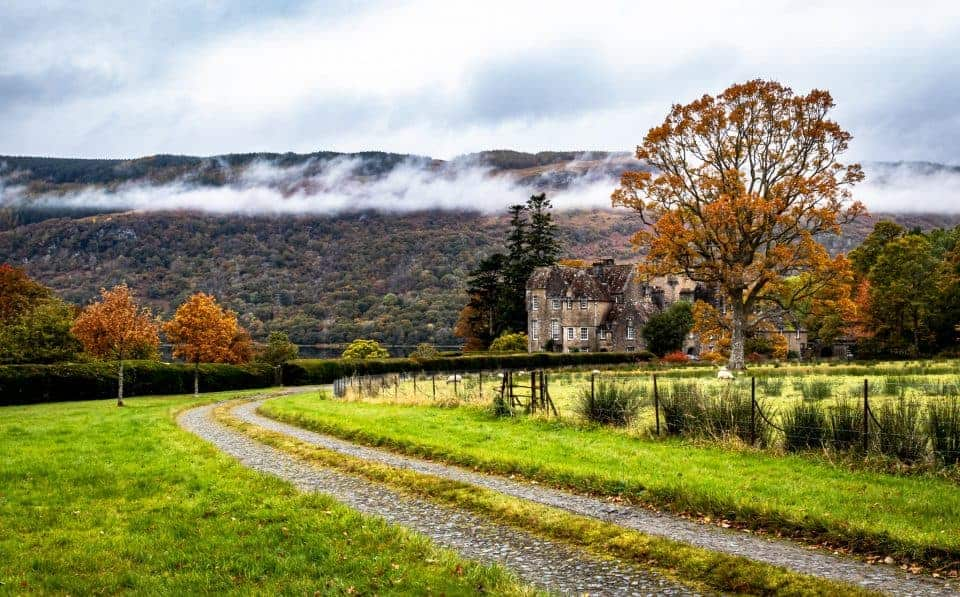 Cloudy country scene in Scotland