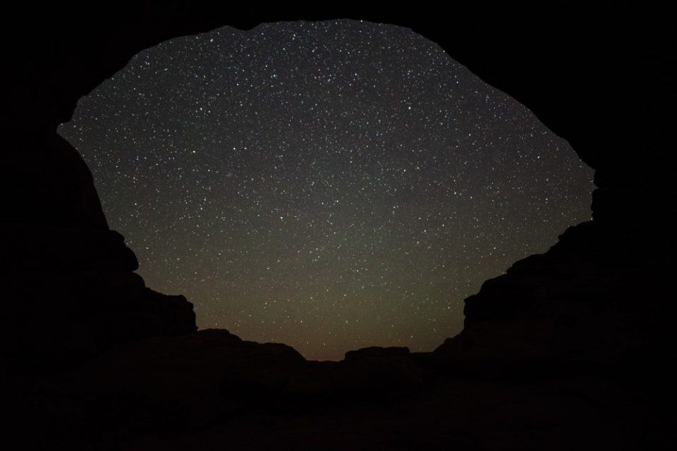Stargazing at Arches in January