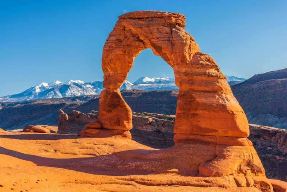 Delicate Arch Utah National Park in the spring