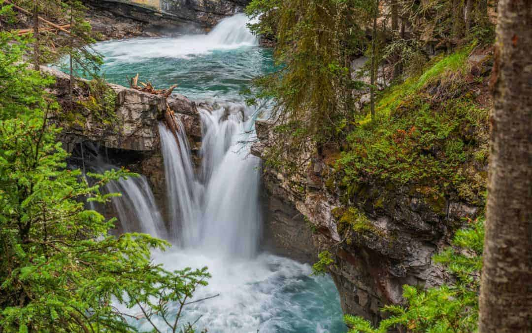 Johnston Canyon waterfall near Banff, Canada