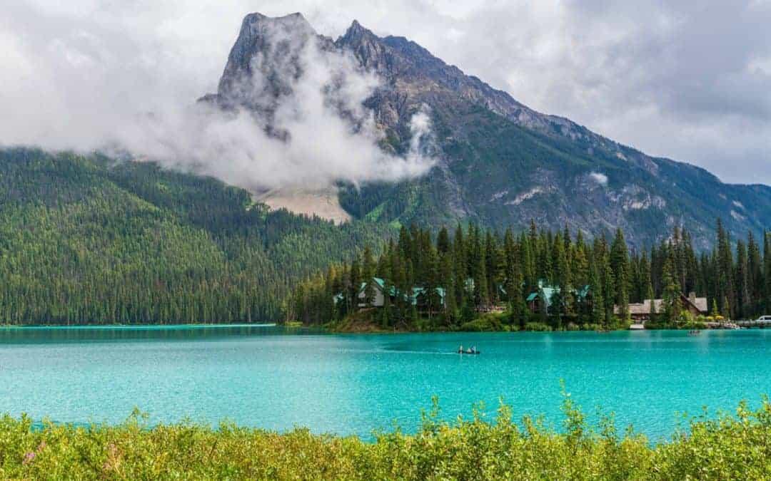 Canada lake foreground midground background