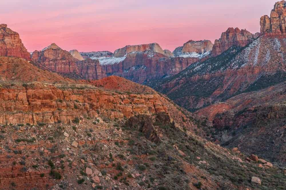 Zion National Park photography in January