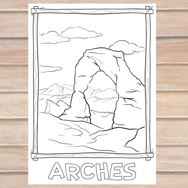 Arches National Park coloring page