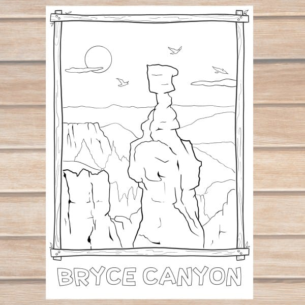 Bryce Canyon National Park Coloring Page