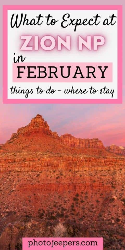 What to expect at Zion in February