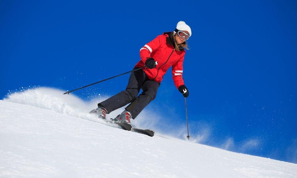 snow skiing in Utah in the winter