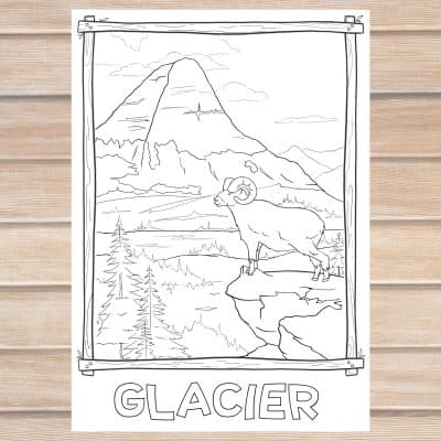 Glacier coloring page