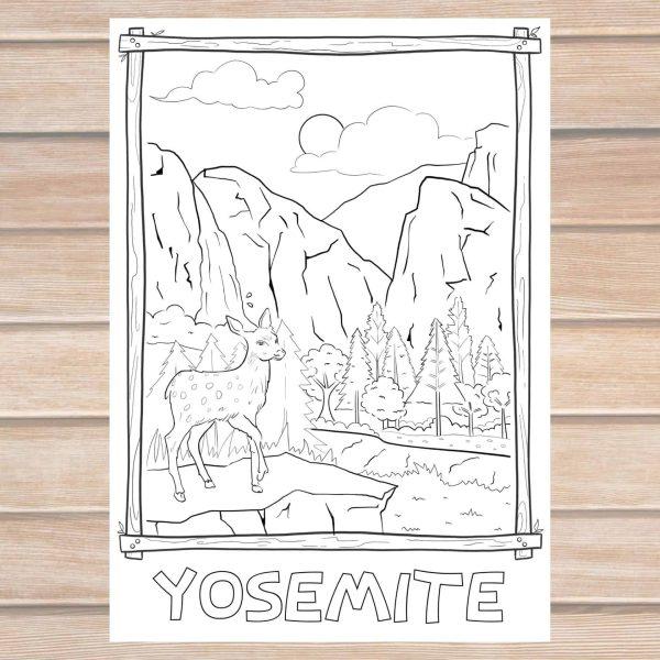 Yosemite coloring page