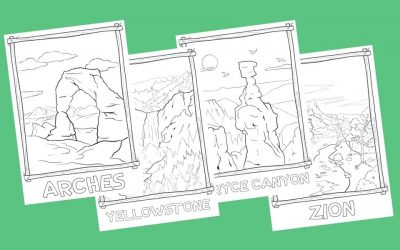 US National Park Coloring Pages