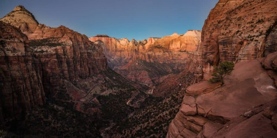 Canyon Overlook Zion Hike without shuttle