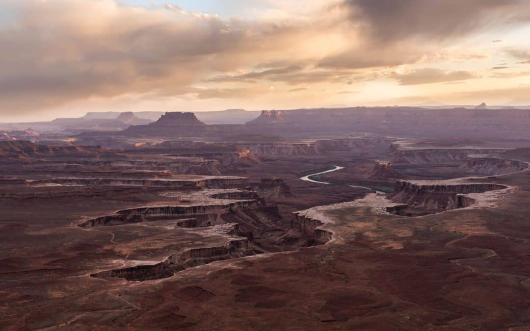 Green River Overlook at Canyonlands in the spring
