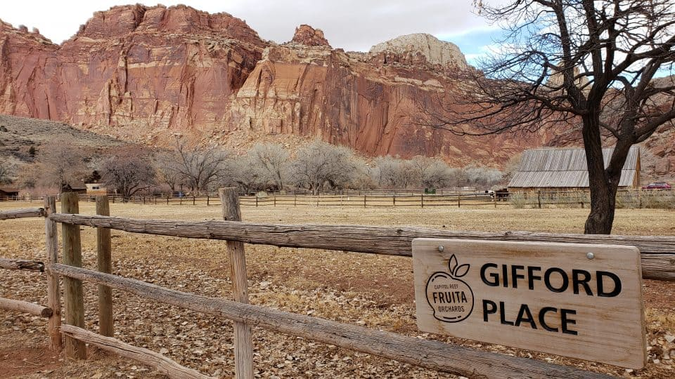 Gifford Place Fruita Capitol Reef National Park
