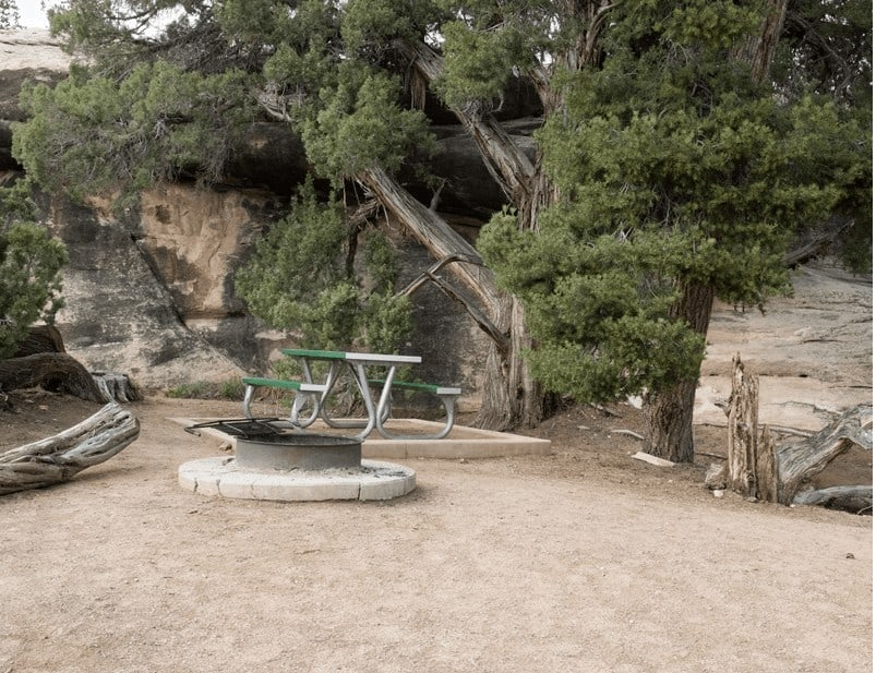 needles canyonlands camping site