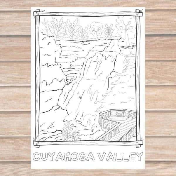 Cuyahoga Valley coloring page