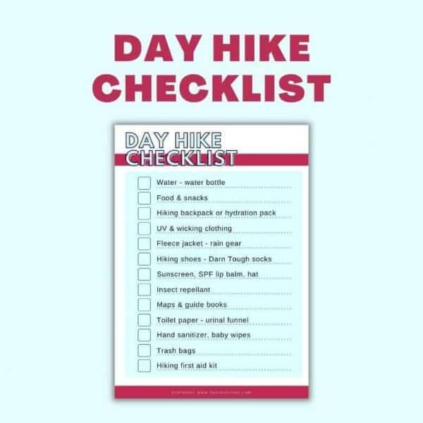 day hike checklist