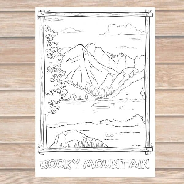 Rocky Mountain national park coloring page