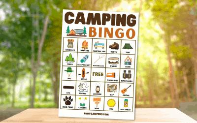 Camping BINGO Printable Game For Kids