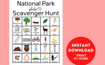 National Park Photo Scavenger Hunt