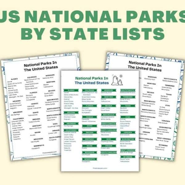 us national parks by state lists