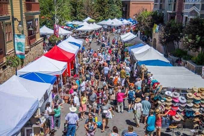 Park City Utah Sunday market