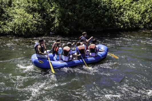 river rafting near Park City Utah in the summer