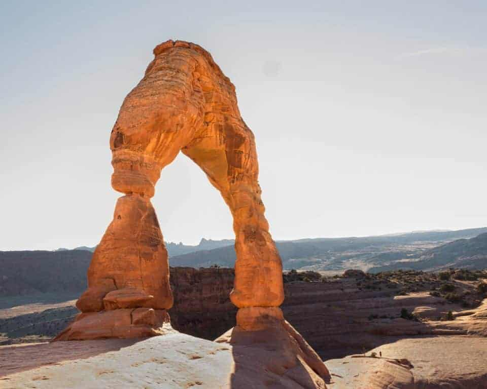 Delicate Arch at Arches National Park in the summer