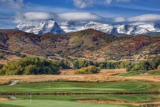 golf course near Park City Utah in the summer