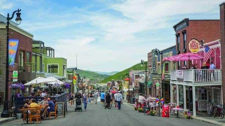 historic Main Street in Park City Utah