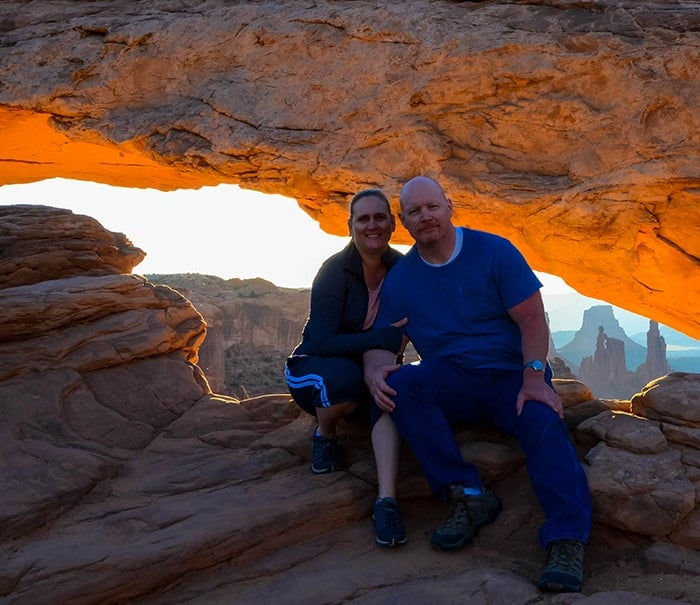 Dave and Jamie at Mesa Arch
