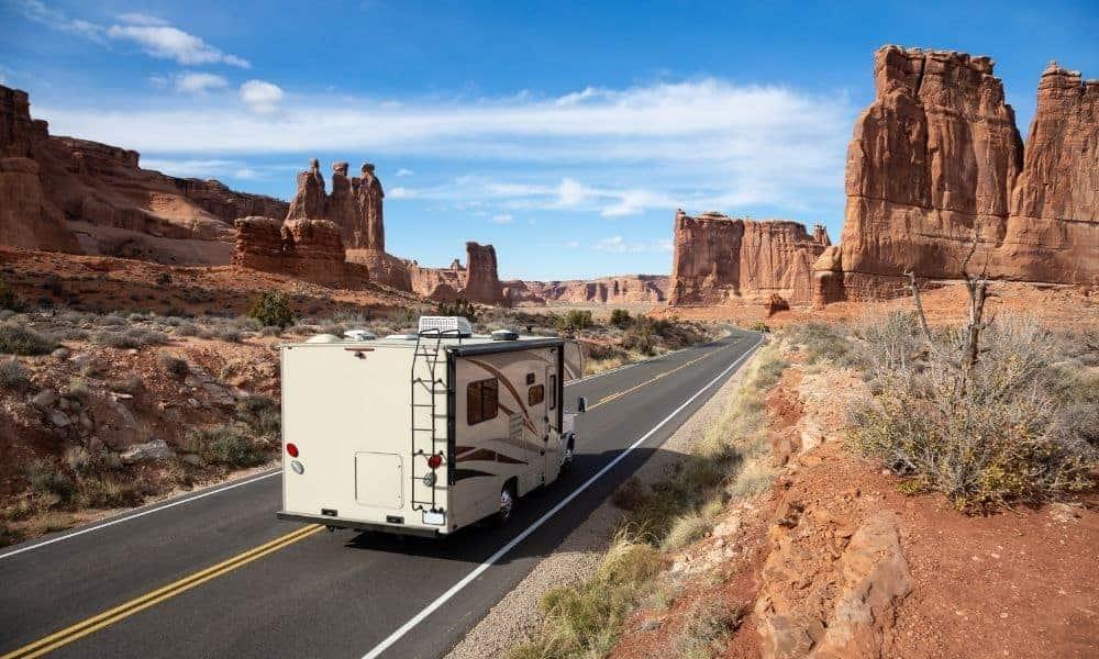 RV camping at Arches National Park