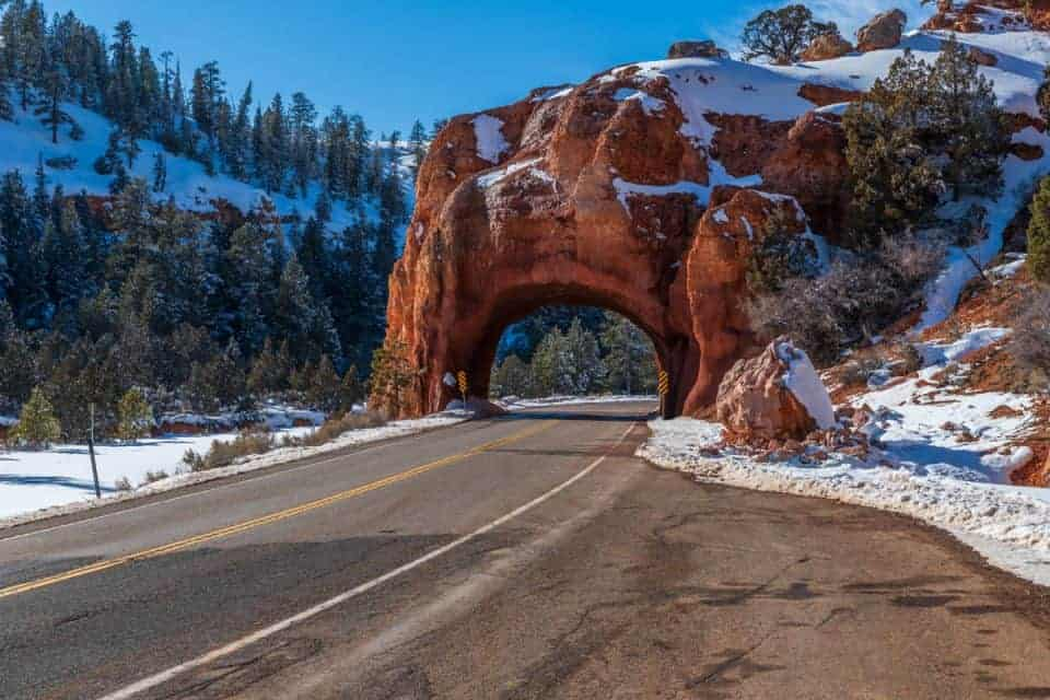 Red Canyon tunnel highway 12 Utah