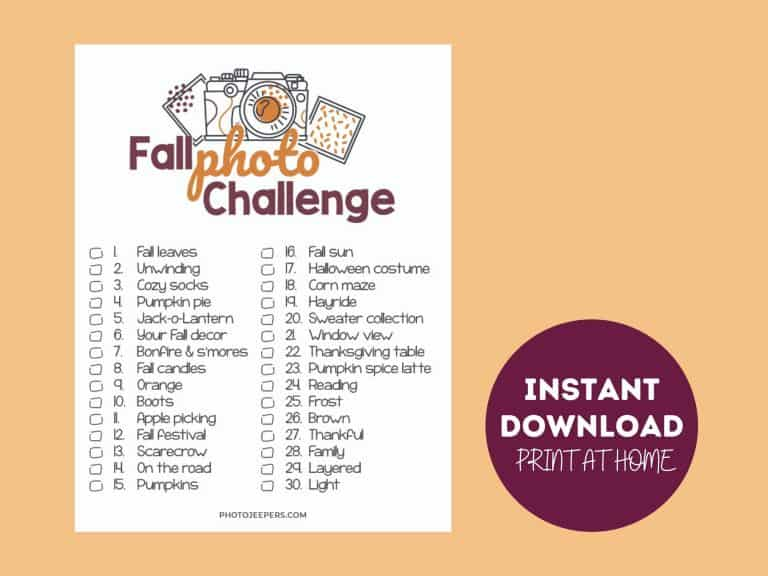 Fall Photo Challenge Printable