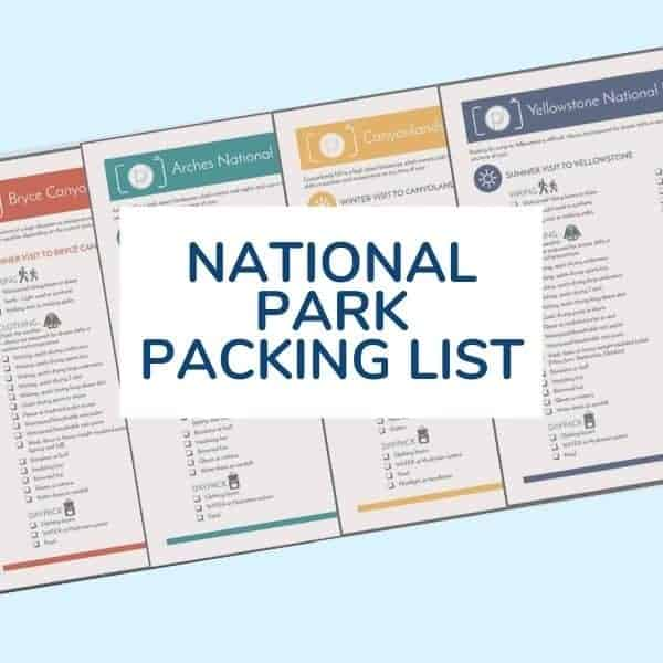 national park packing list