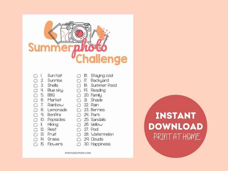 Summer Photo Challenge Printable